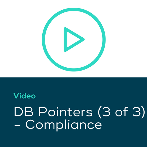 DB Pointers (3 of 3) – Compliance