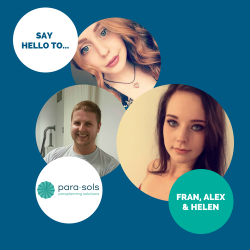 Say hello to…Fran, Alex & Helen
