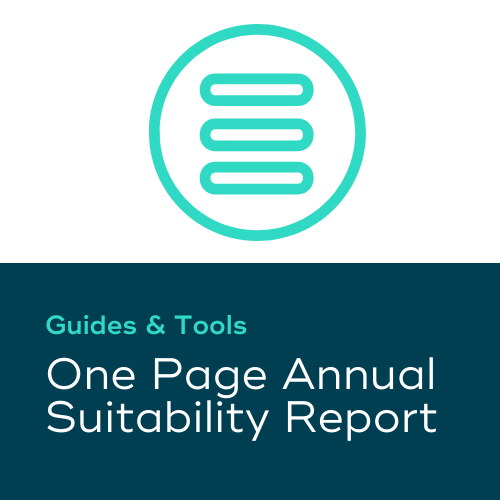 One Page Annual Suitability Report